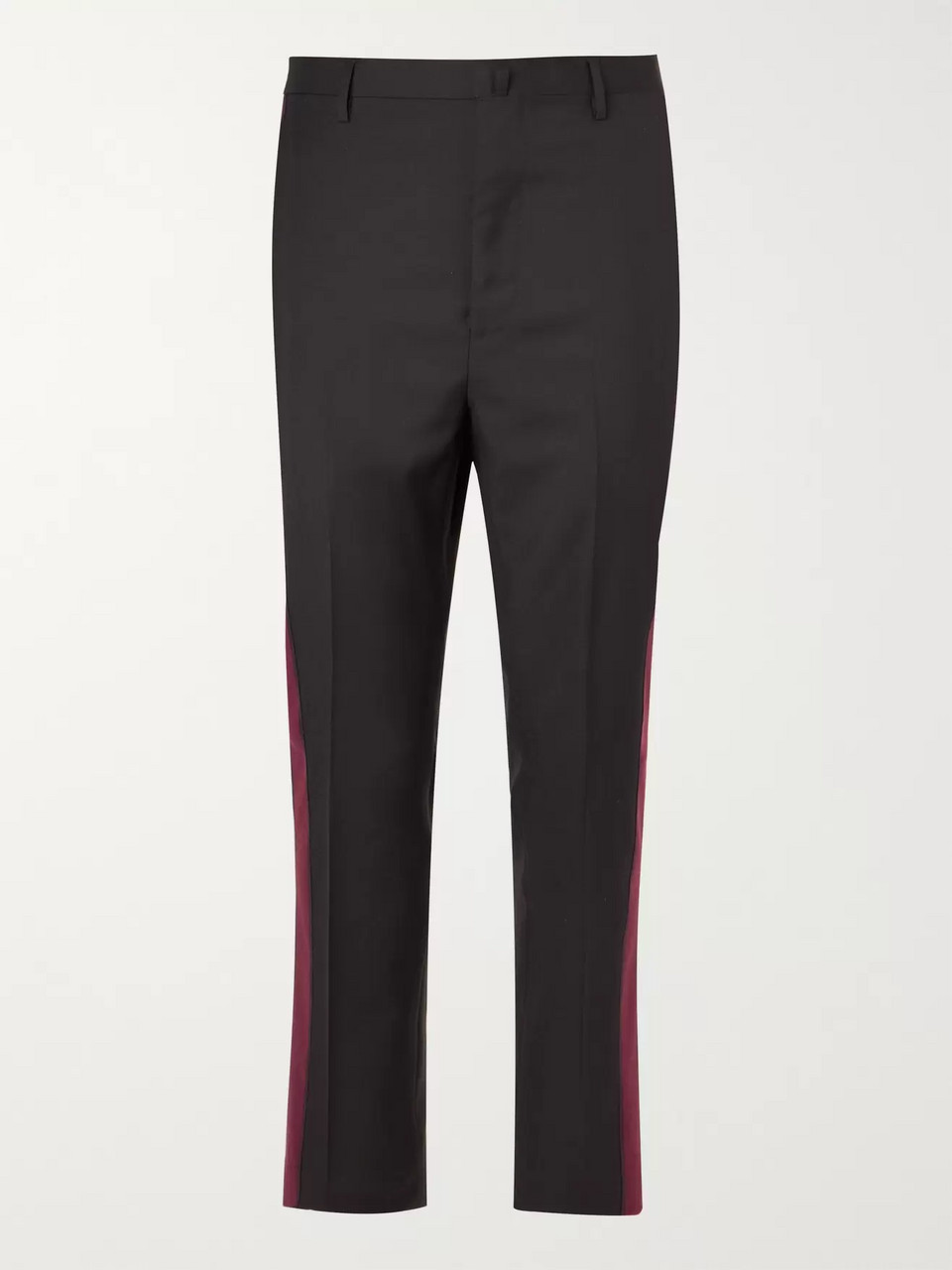 Lanvin Slim-Fit Striped Wool-Twill Trousers
