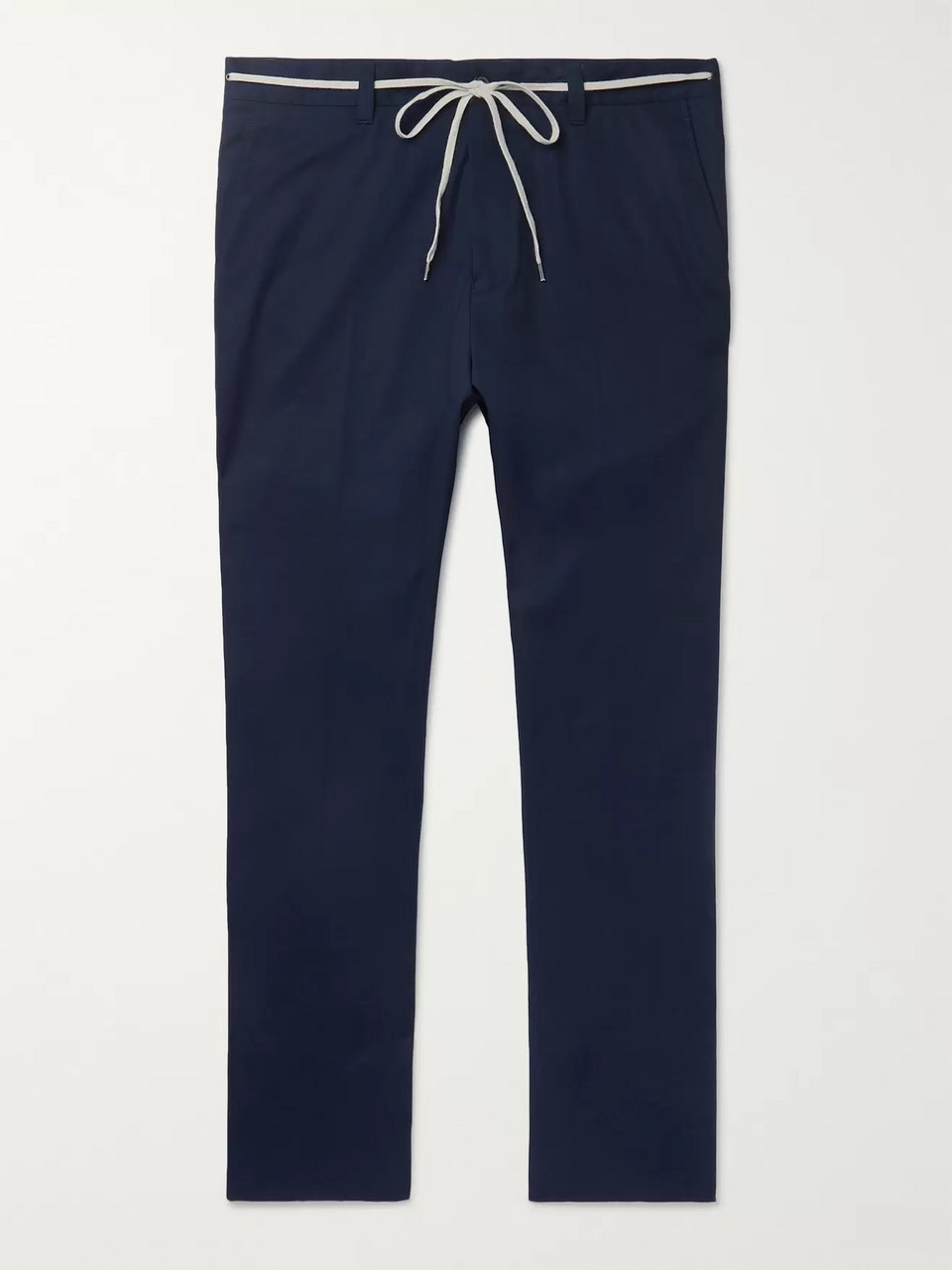 Lanvin Navy Slim-Fit Cotton Trousers