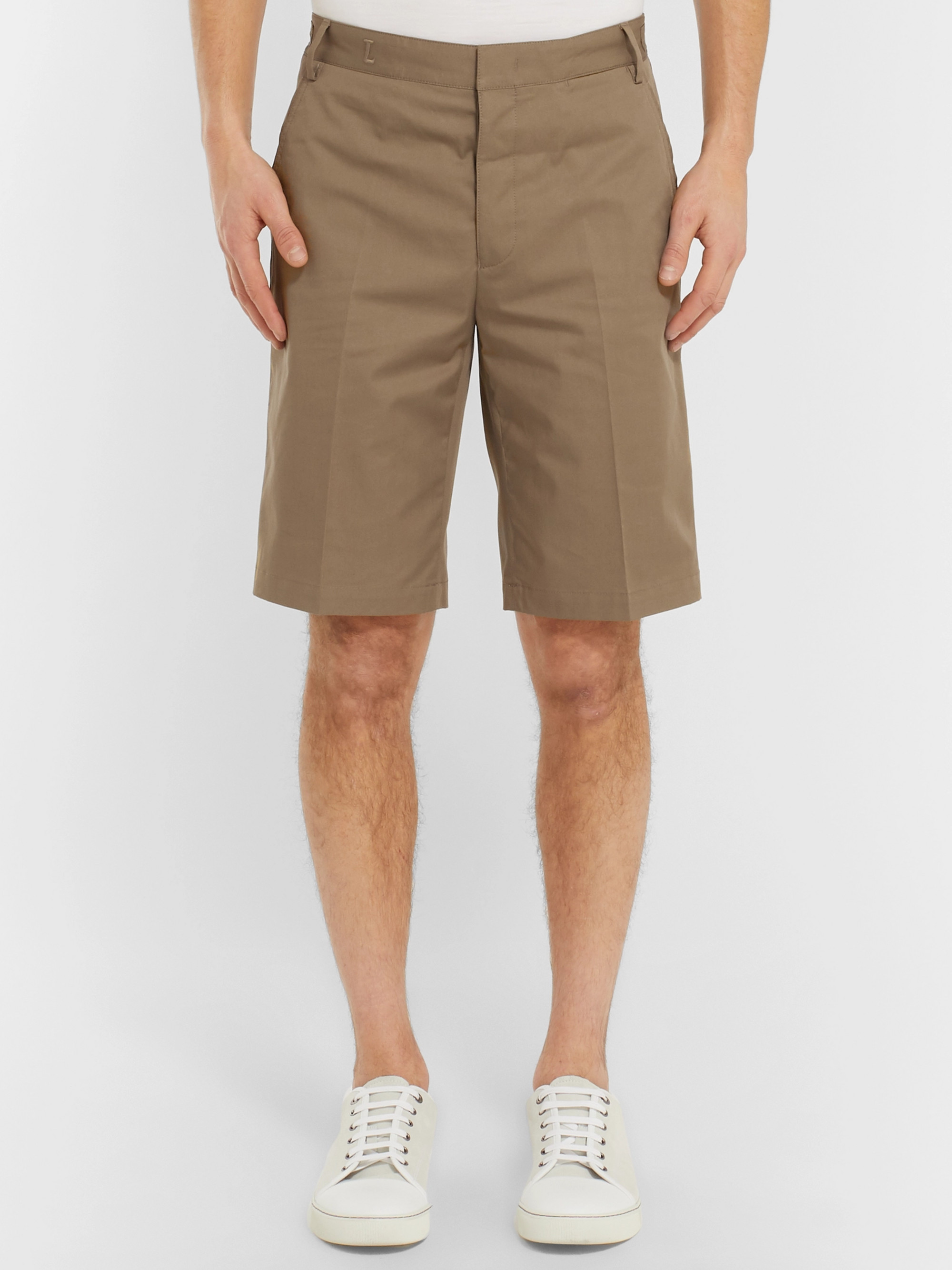 Lanvin Slim-Fit Cotton-Twill Chino Shorts