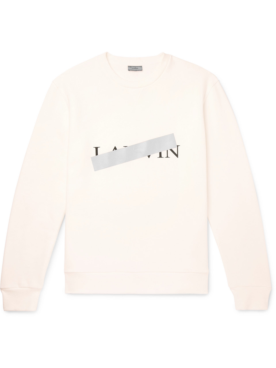 Lanvin Reflective-Trimmed Fleece-Back Cotton-Jersey Sweatshirt