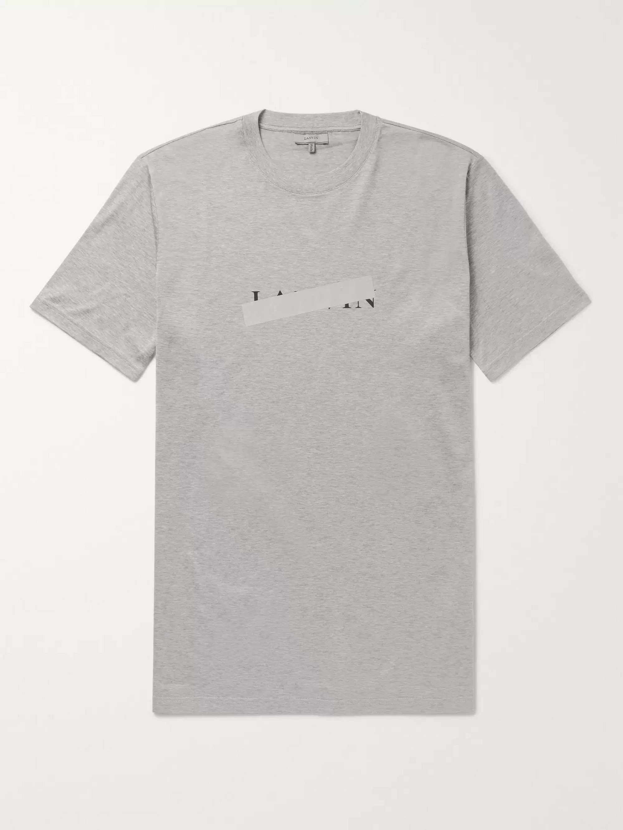 Lanvin Slim-Fit Reflective-Trimmed Mercerised Cotton-Jersey T-Shirt