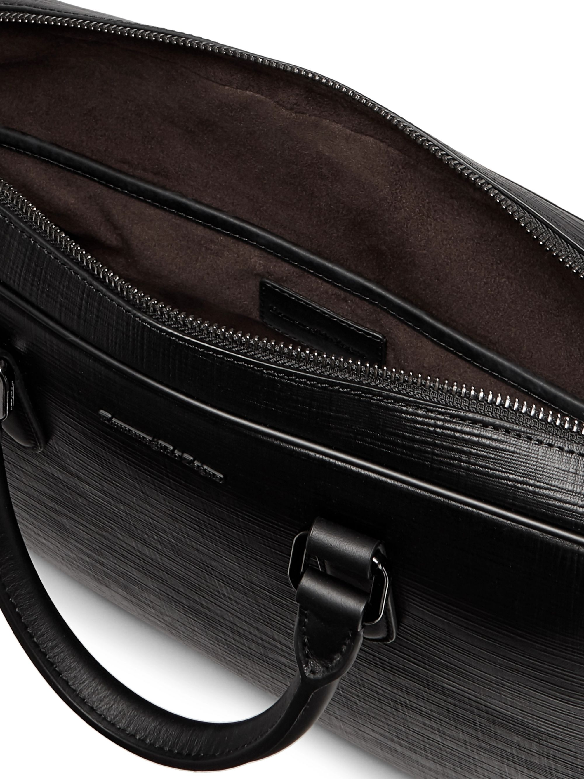Ermenegildo Zegna Textured-Leather Briefcase
