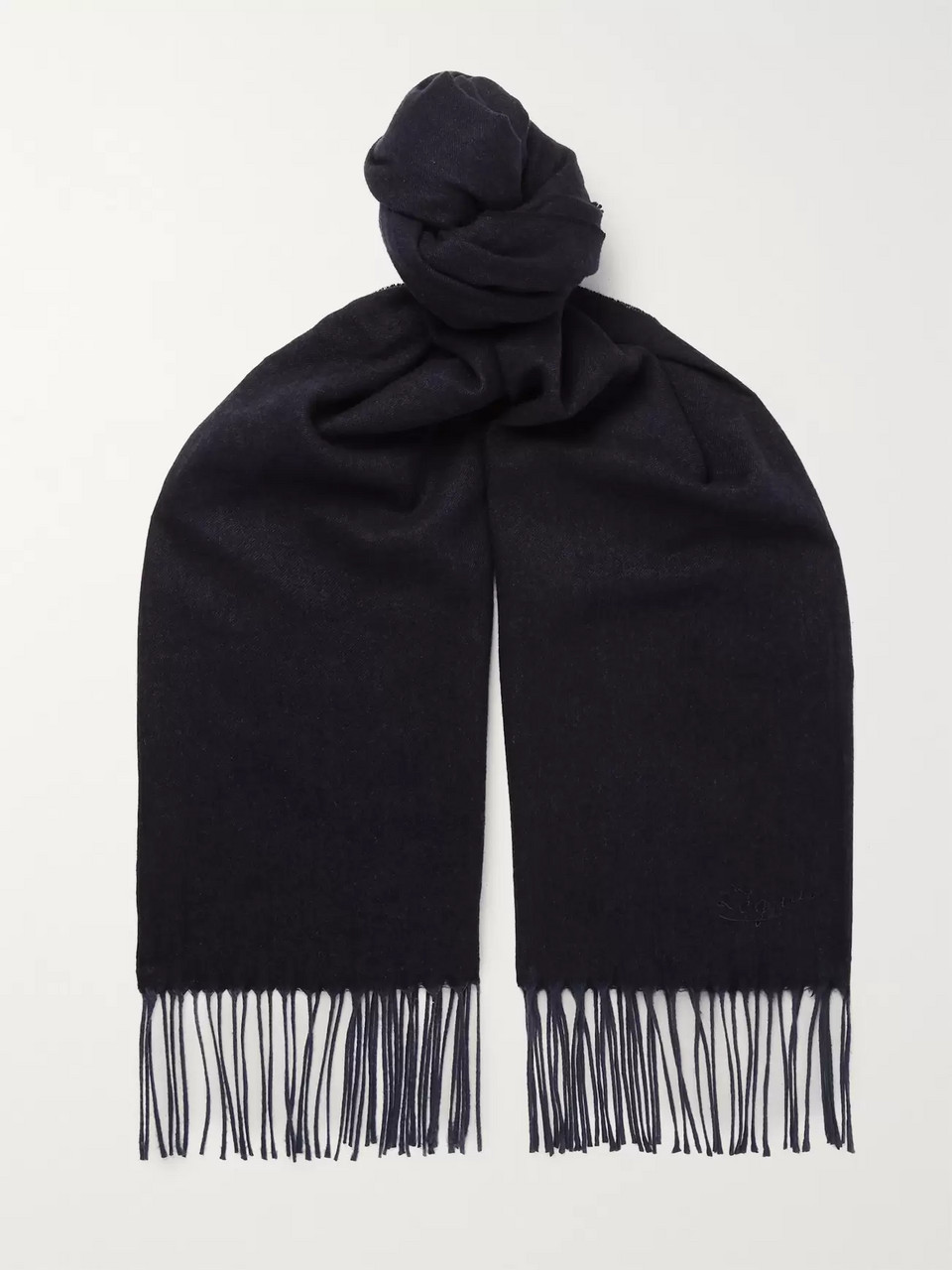 Ermenegildo Zegna Fringed Cashmere and Silk-Blend Scarf