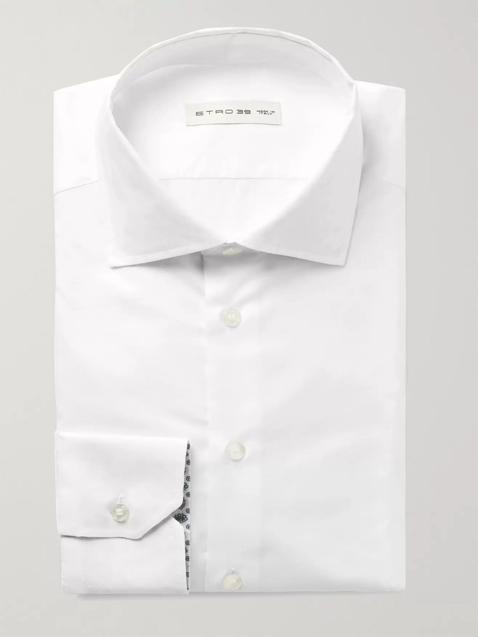 ETRO White Slim-Fit Cotton Shirt