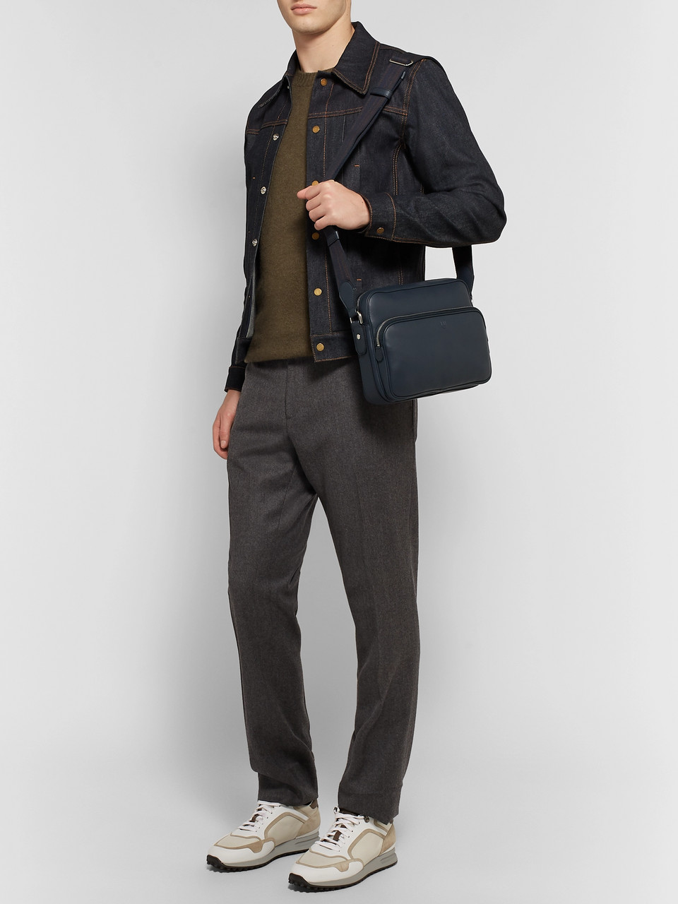 Dunhill Hampstead City Leather Messenger Bag