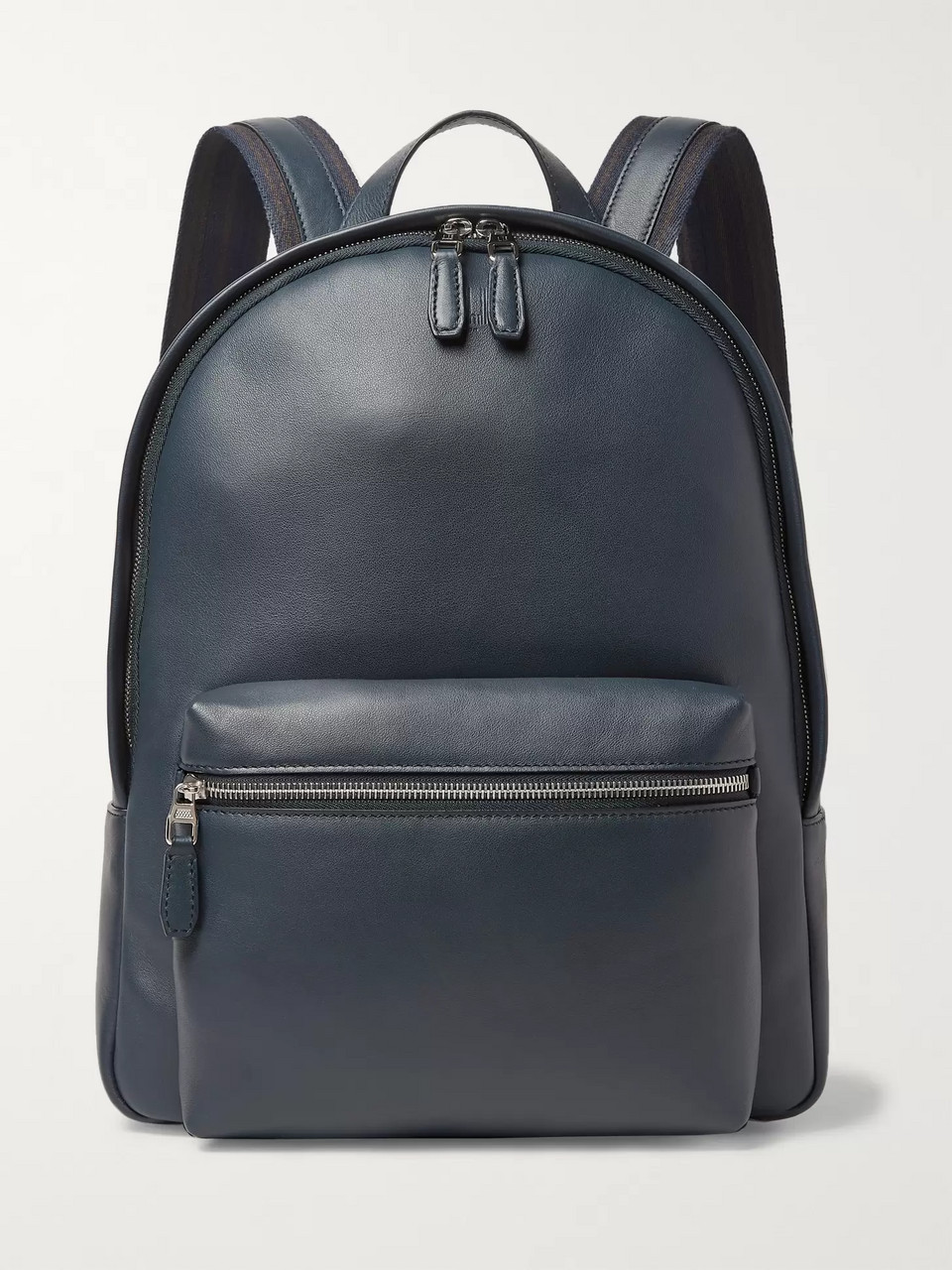 Dunhill Hampstead Canvas-Panelled Full-Grain Leather Backpack