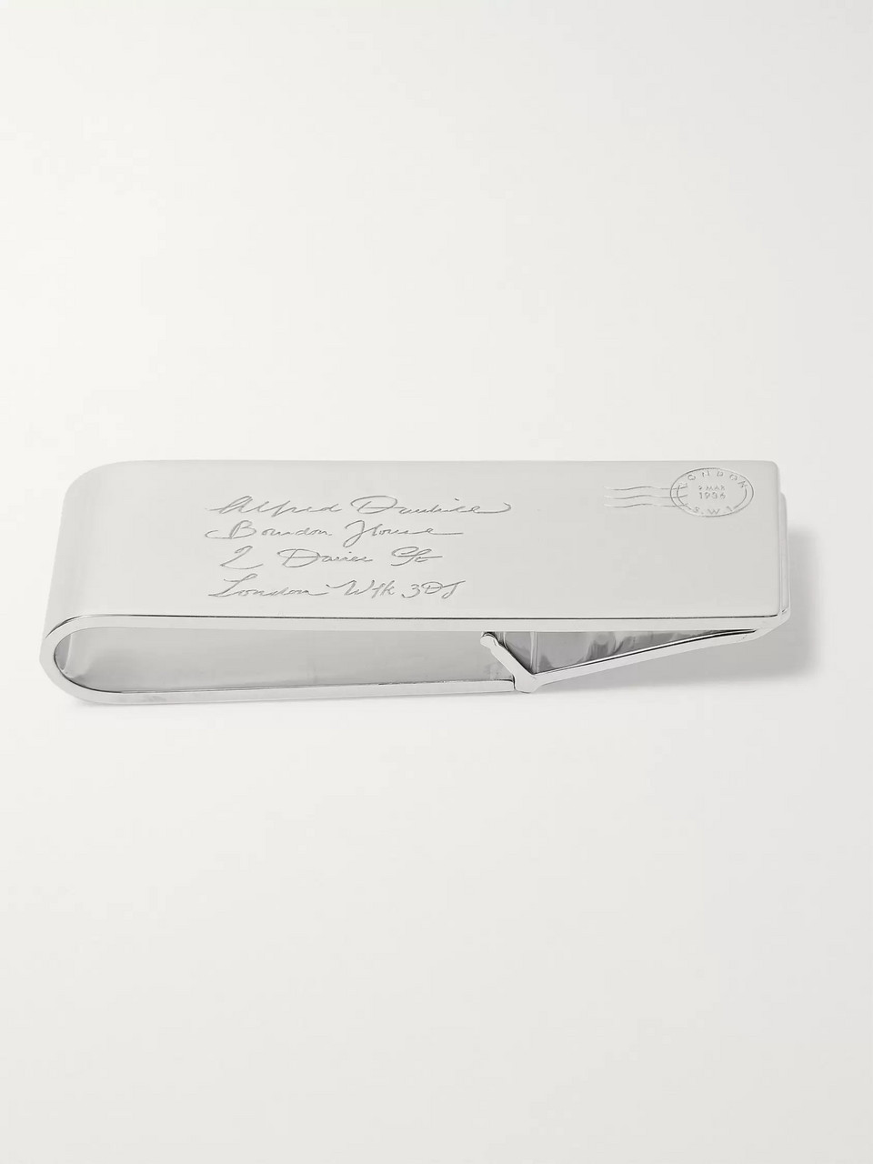 Dunhill Engraved Sterling Silver Money Clip