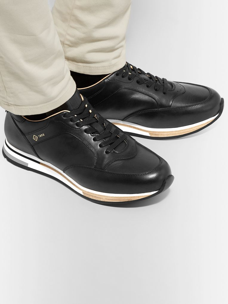 Dunhill Duke Polished-Leather Sneakers