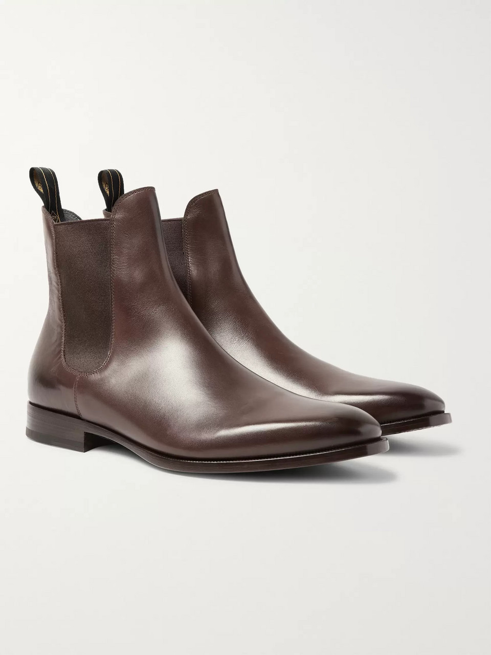 Dunhill Burnished-Leather Chelsea Boots