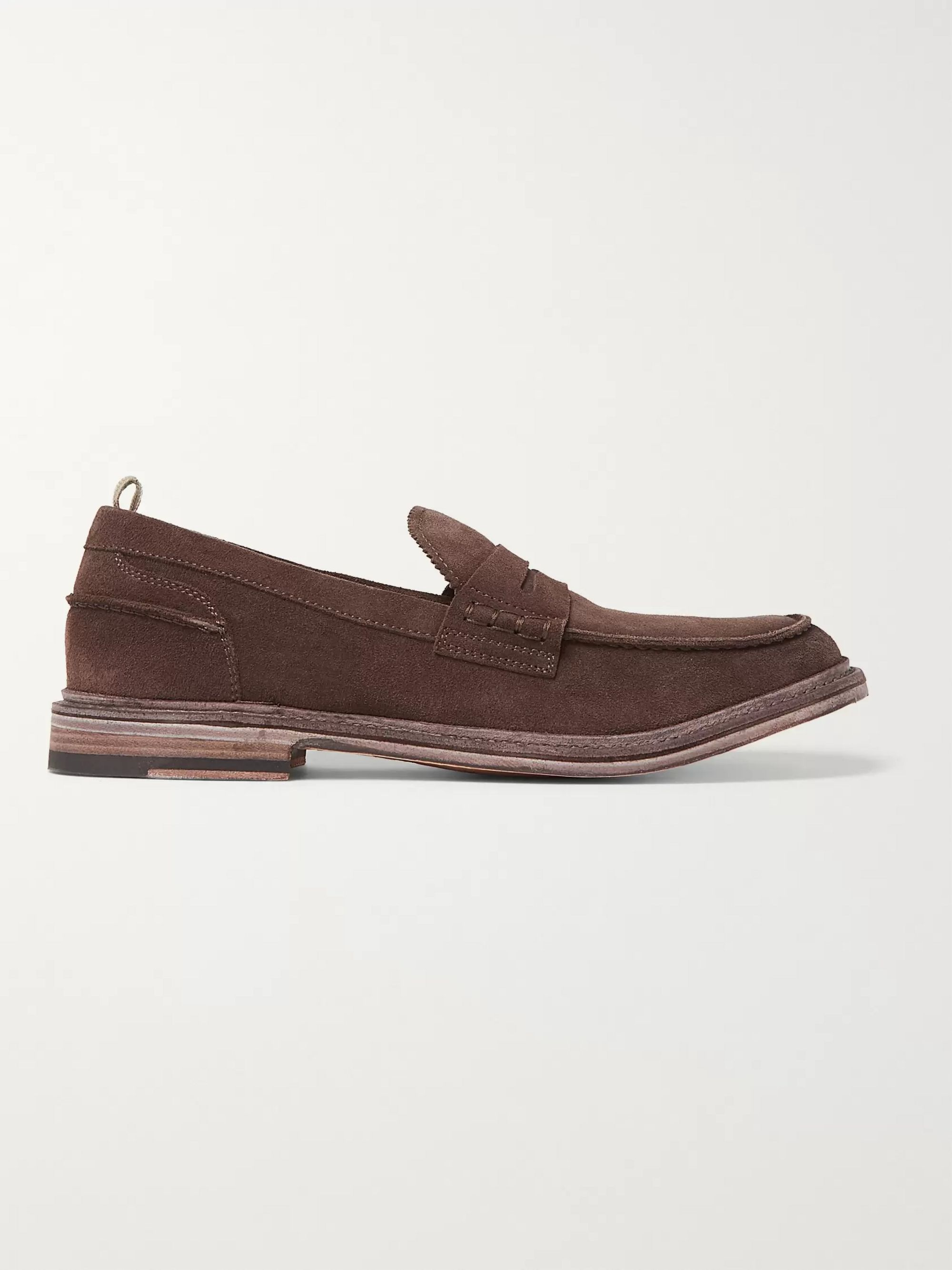 Officine Creative Durham Suede Penny Loafers