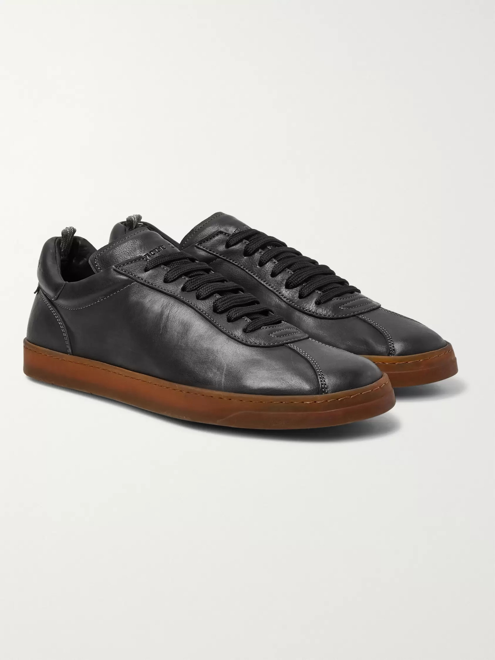 fdc45104fb519 Black Karma Washed-Leather Sneakers | Officine Creative | MR PORTER