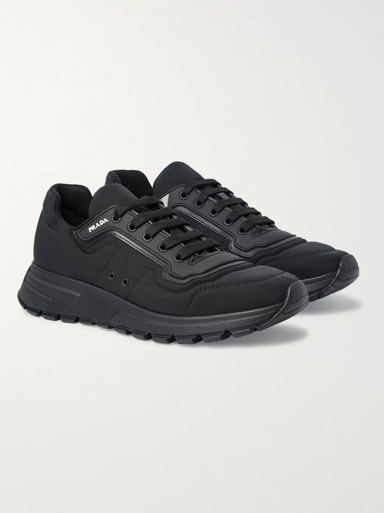Prada Match Race Rubber and Leather-Trimmed Nylon Sneakers