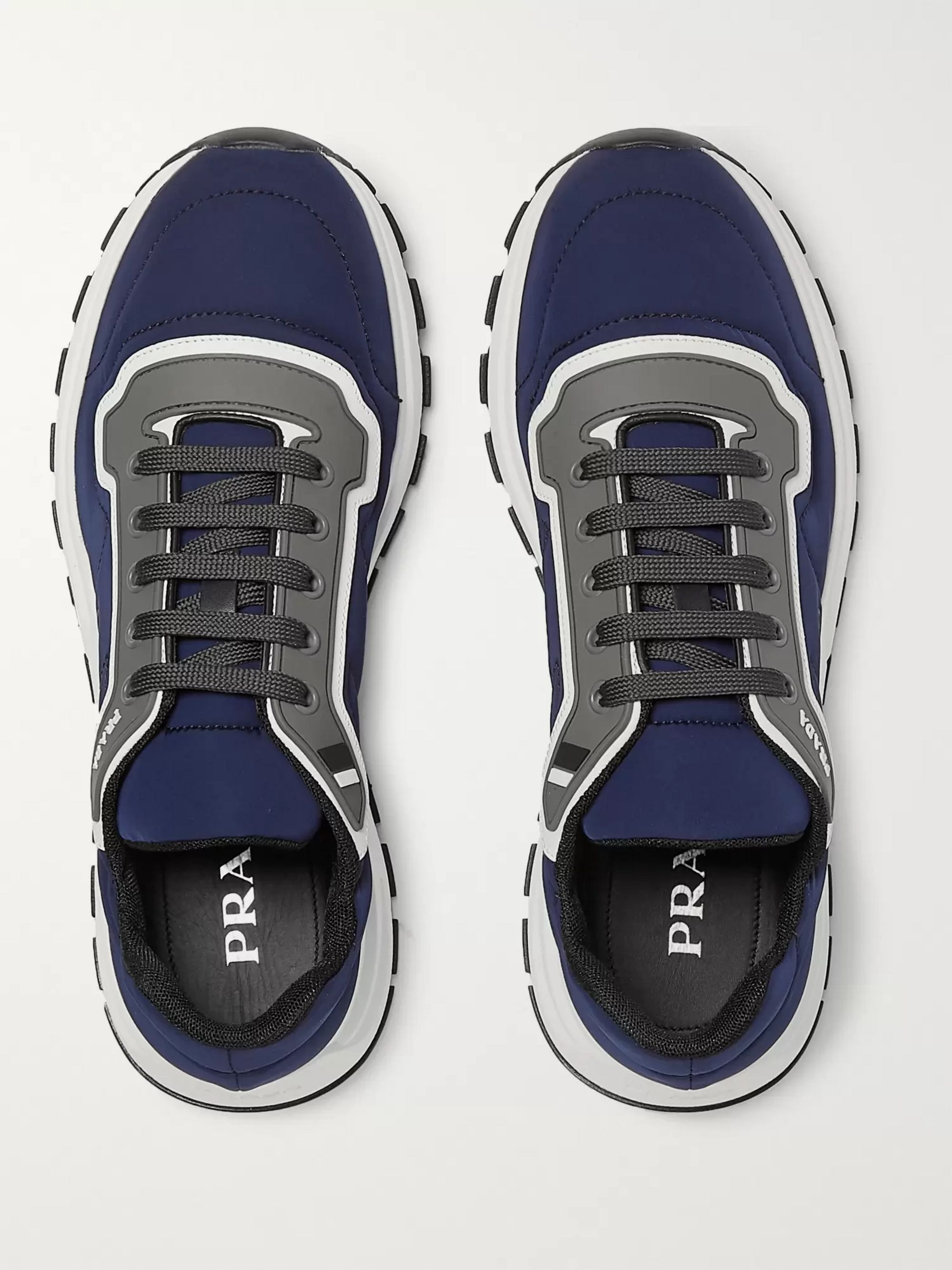 Match Race Panelled Nylon, Leather and Rubber Sneakers