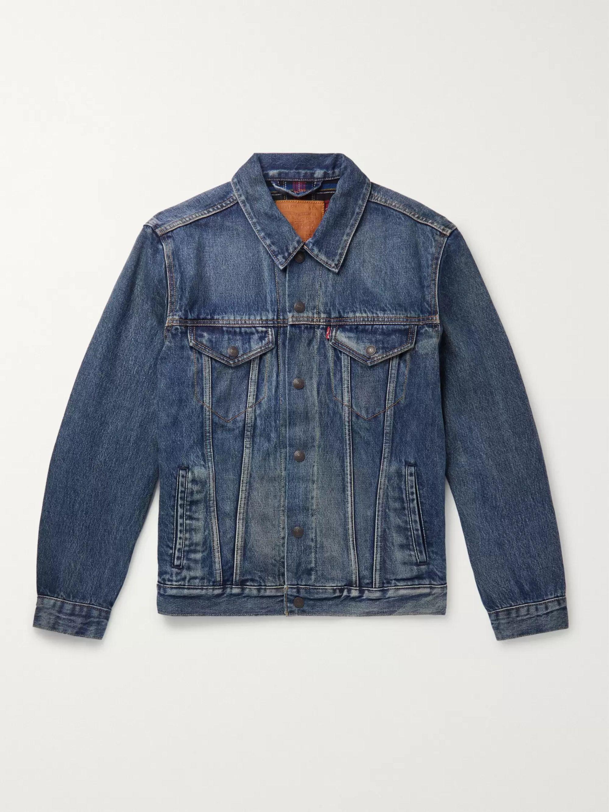 Flannel Lined Denim Trucker Jacket