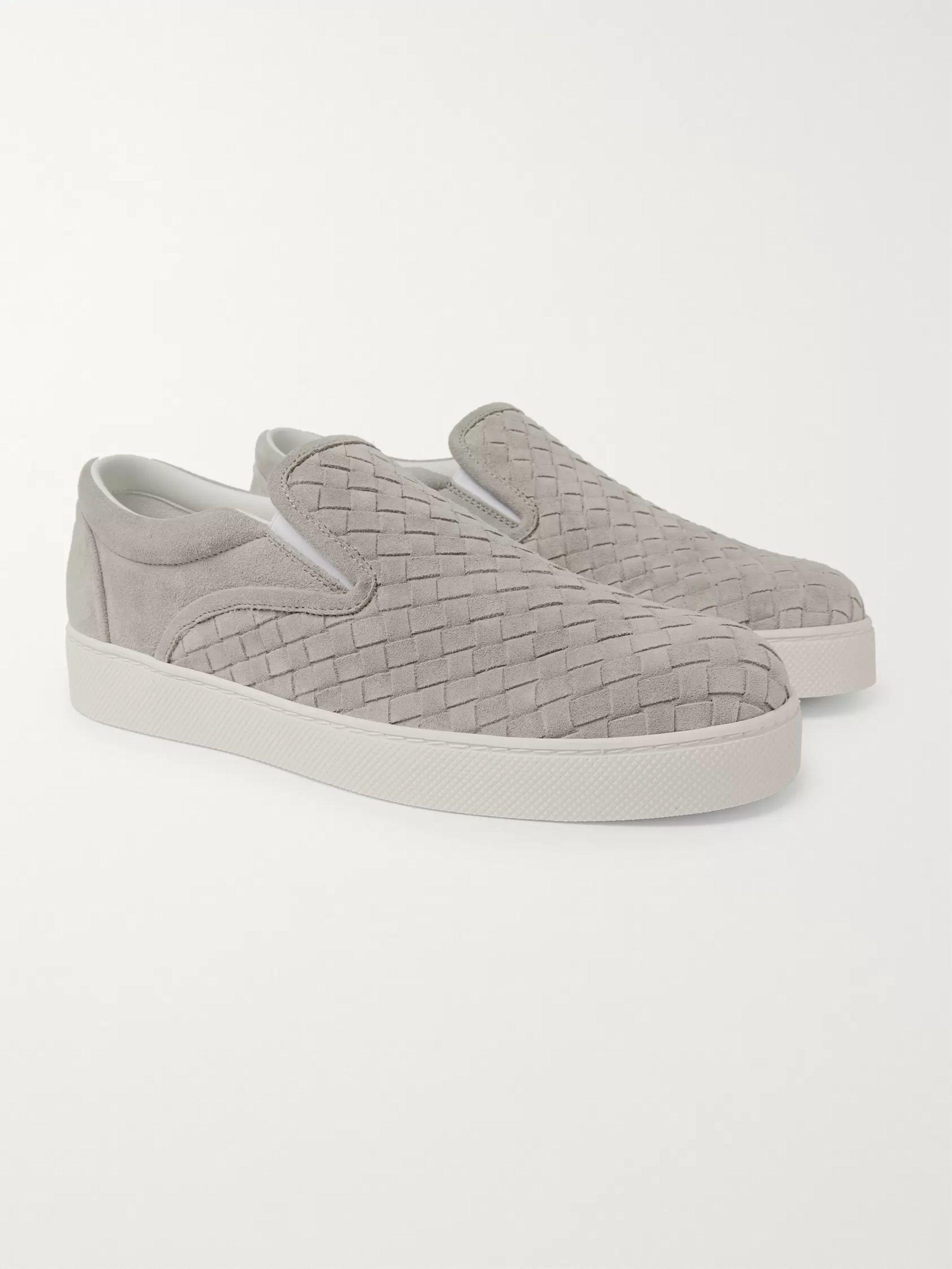 Light gray Intrecciato Suede Slip-On