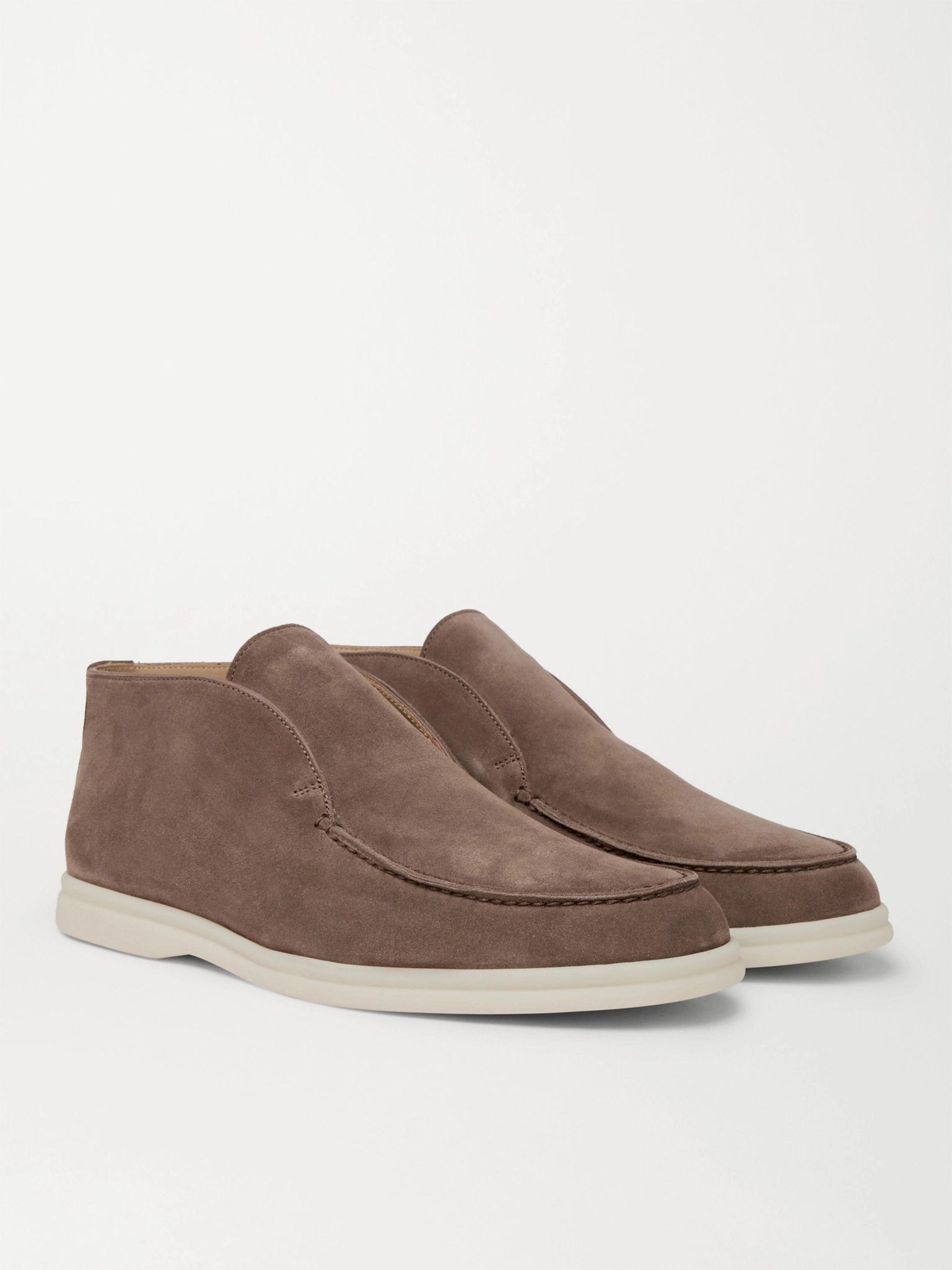 Brown Open Walk Suede Boots   Loro