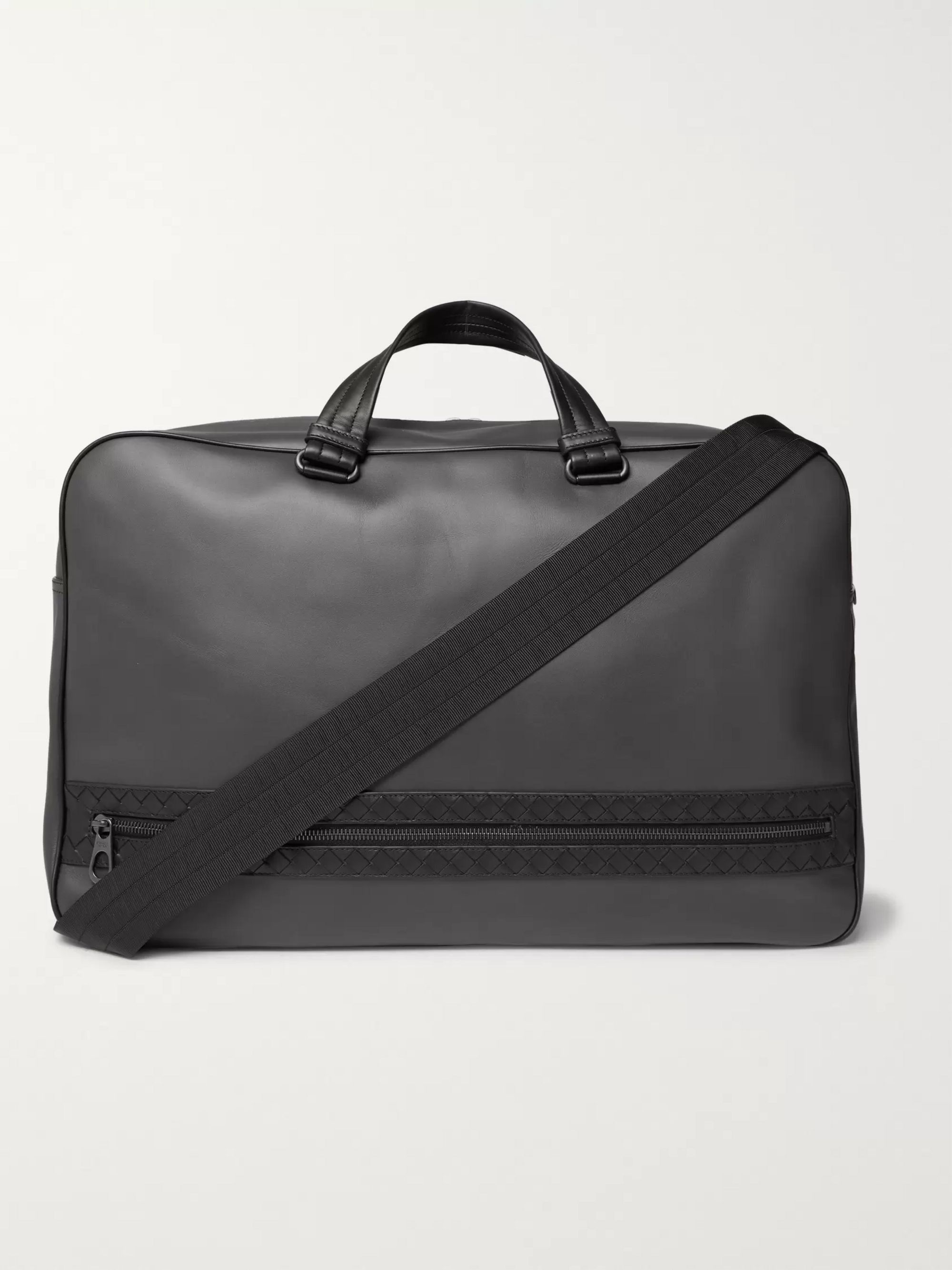 Bottega Veneta Intrecciato-Trimmed Leather Holdall