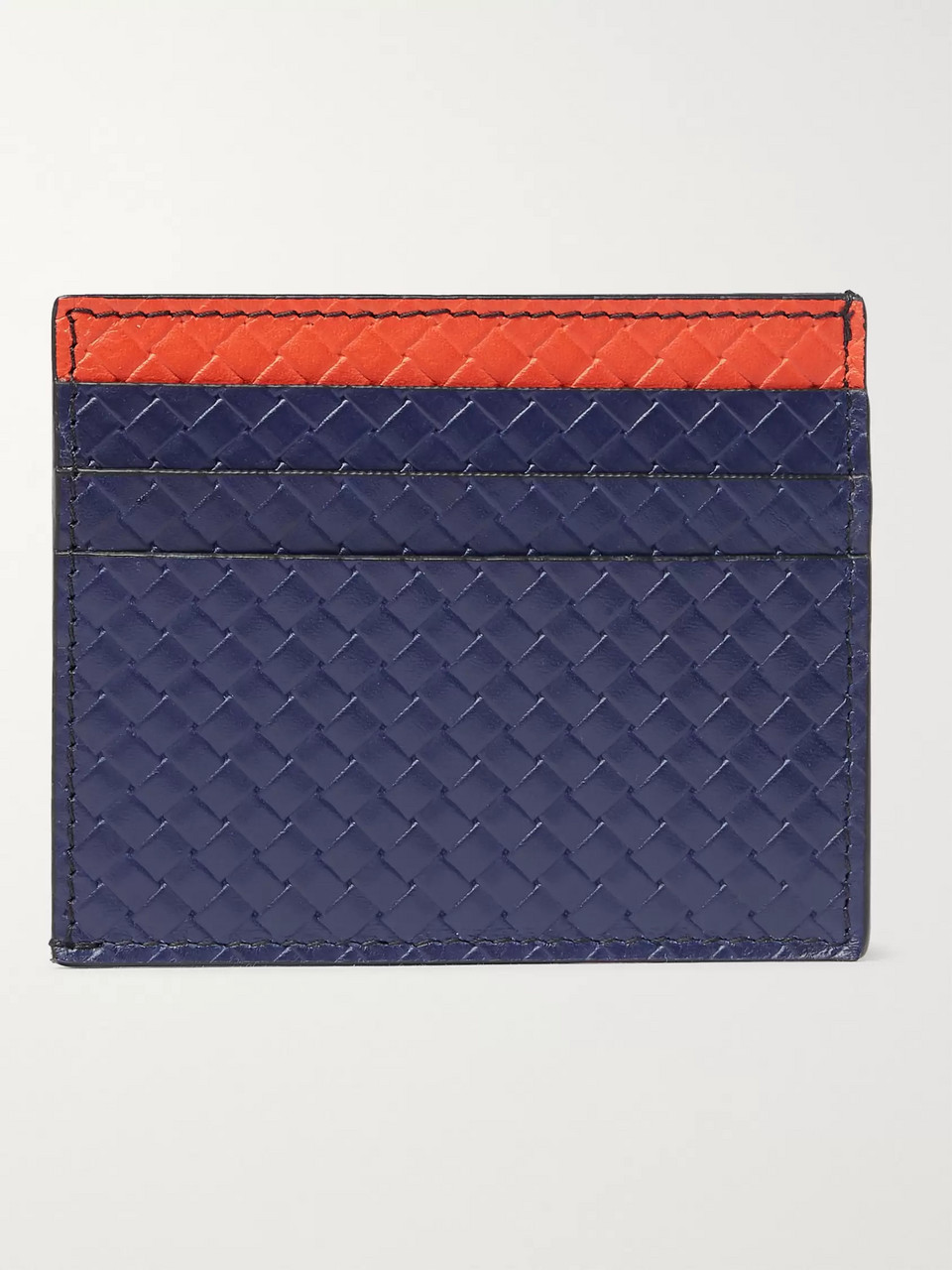 Bottega Veneta Micro Embossed Leather Cardholder
