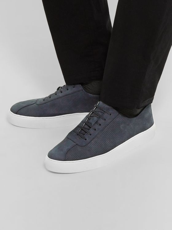 Grenson Perforated Nubuck Sneakers