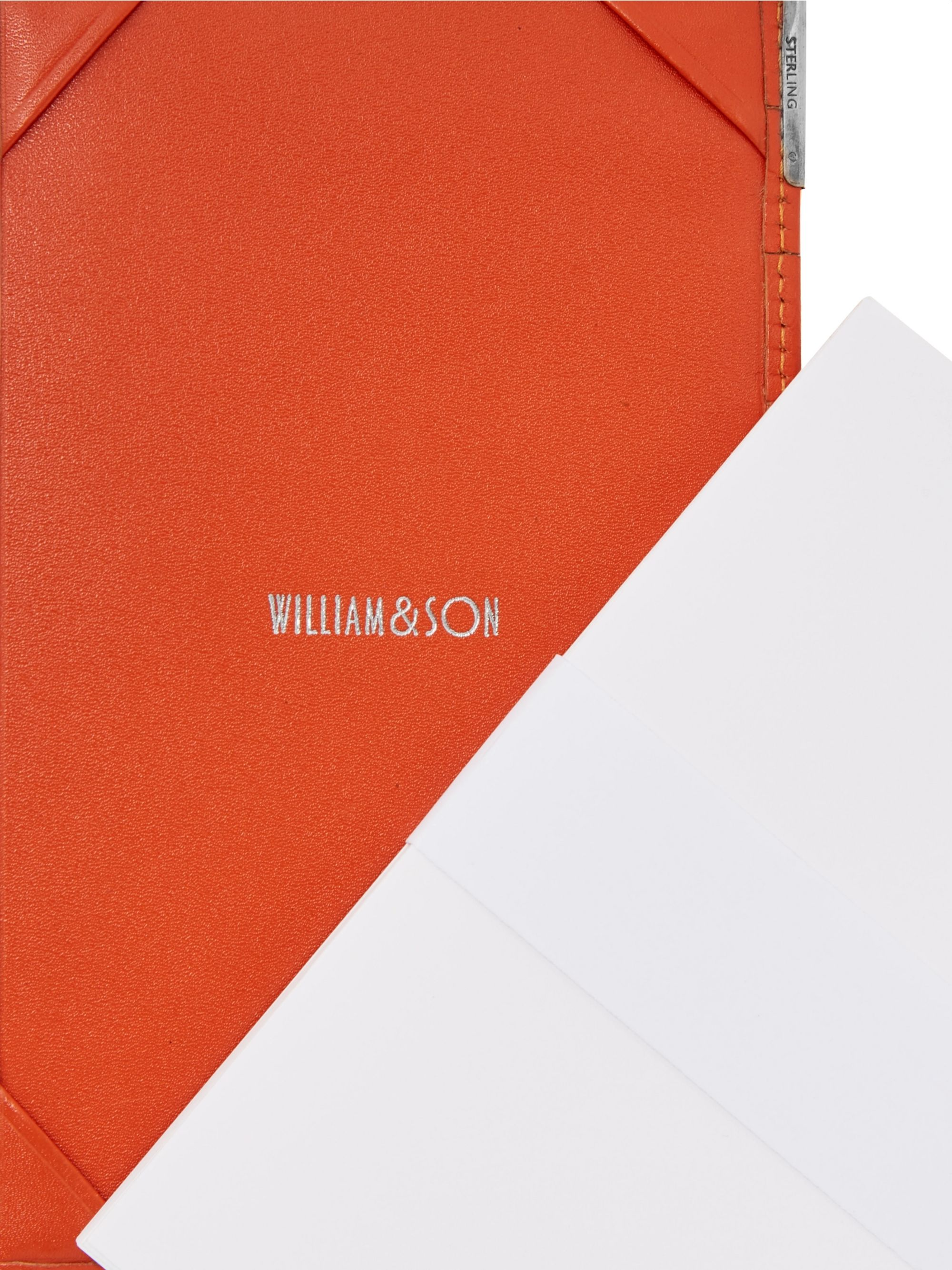 William & Son Sterling Silver and Leather Notebook and Cardholder