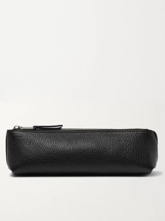 William & Son Bruton Full-Grain Leather Pencil Case