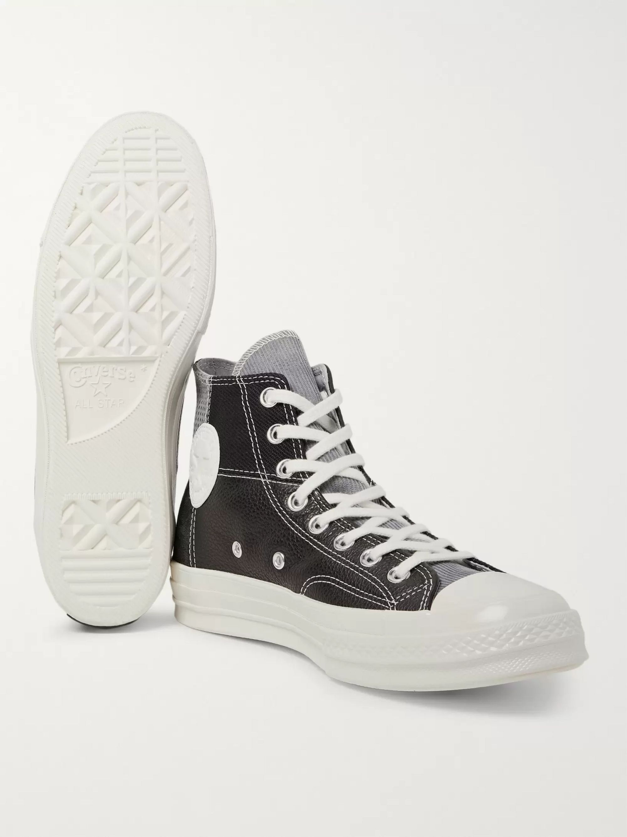Converse 1970s Chuck Taylor All Star Patchwork Leather, Corduroy and Twill High-Top Sneakers