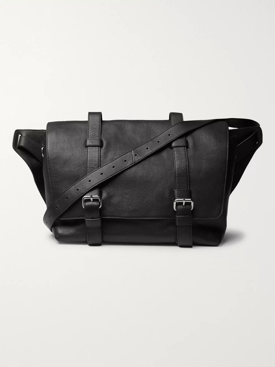 Dries Van Noten Leather Messenger Bag