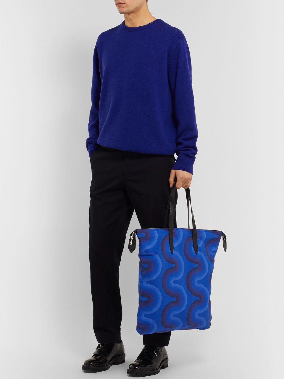 Dries Van Noten Leather-Trimmed Cotton-Canvas Tote Bag