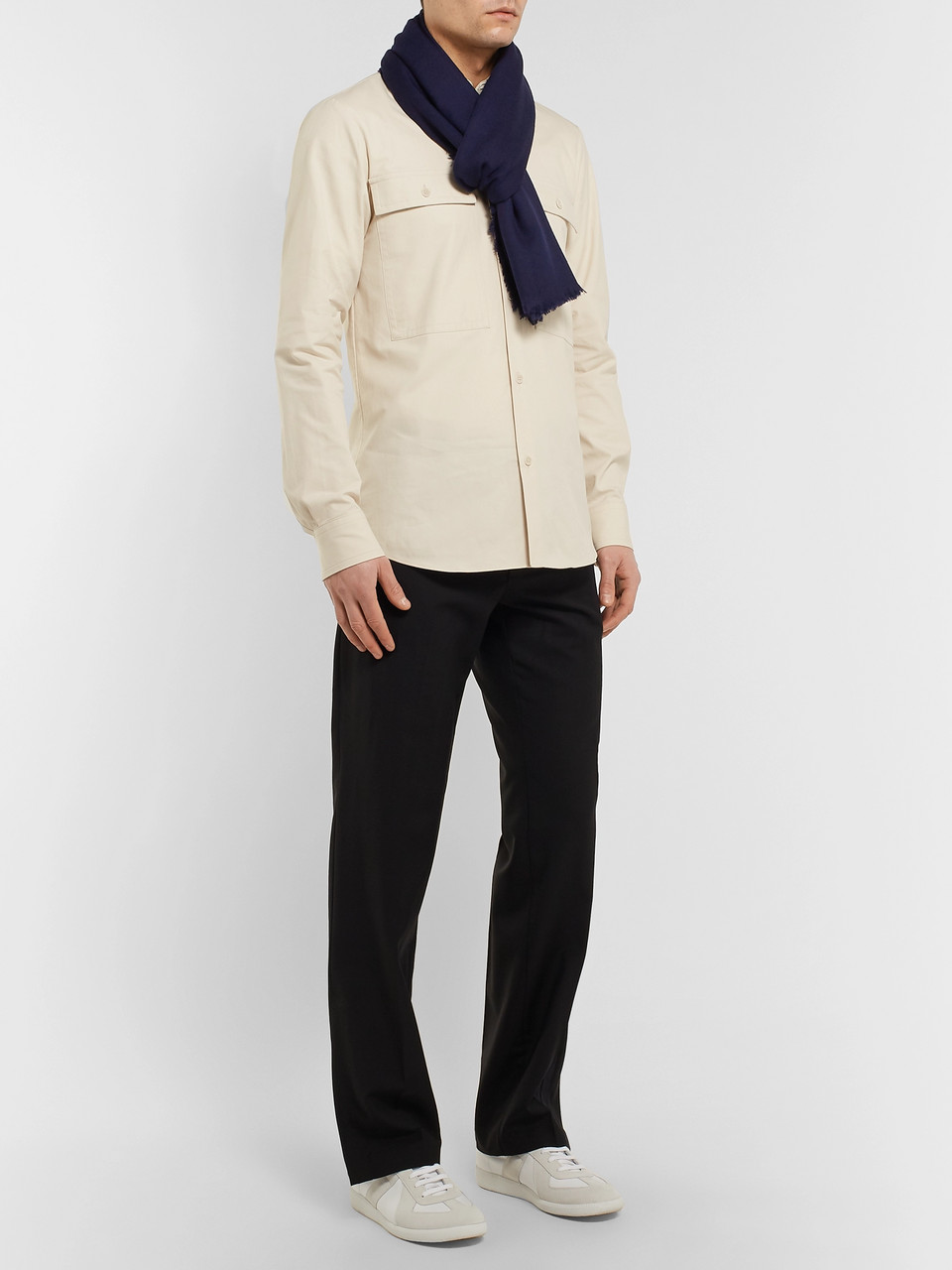 Dries Van Noten Fringed Cashmere-Jacquard Scarf