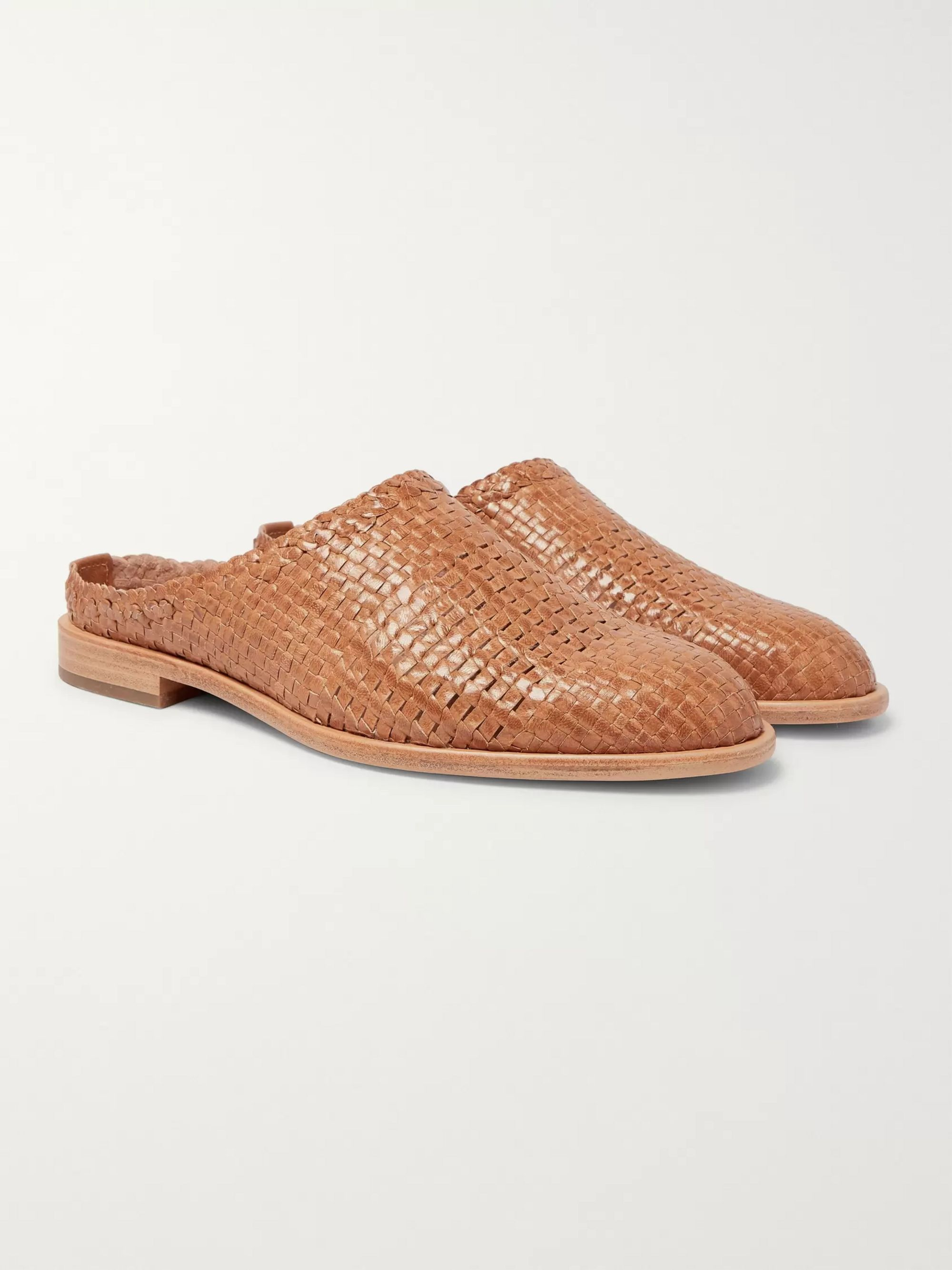 Woven Leather Loafers by Hender Scheme