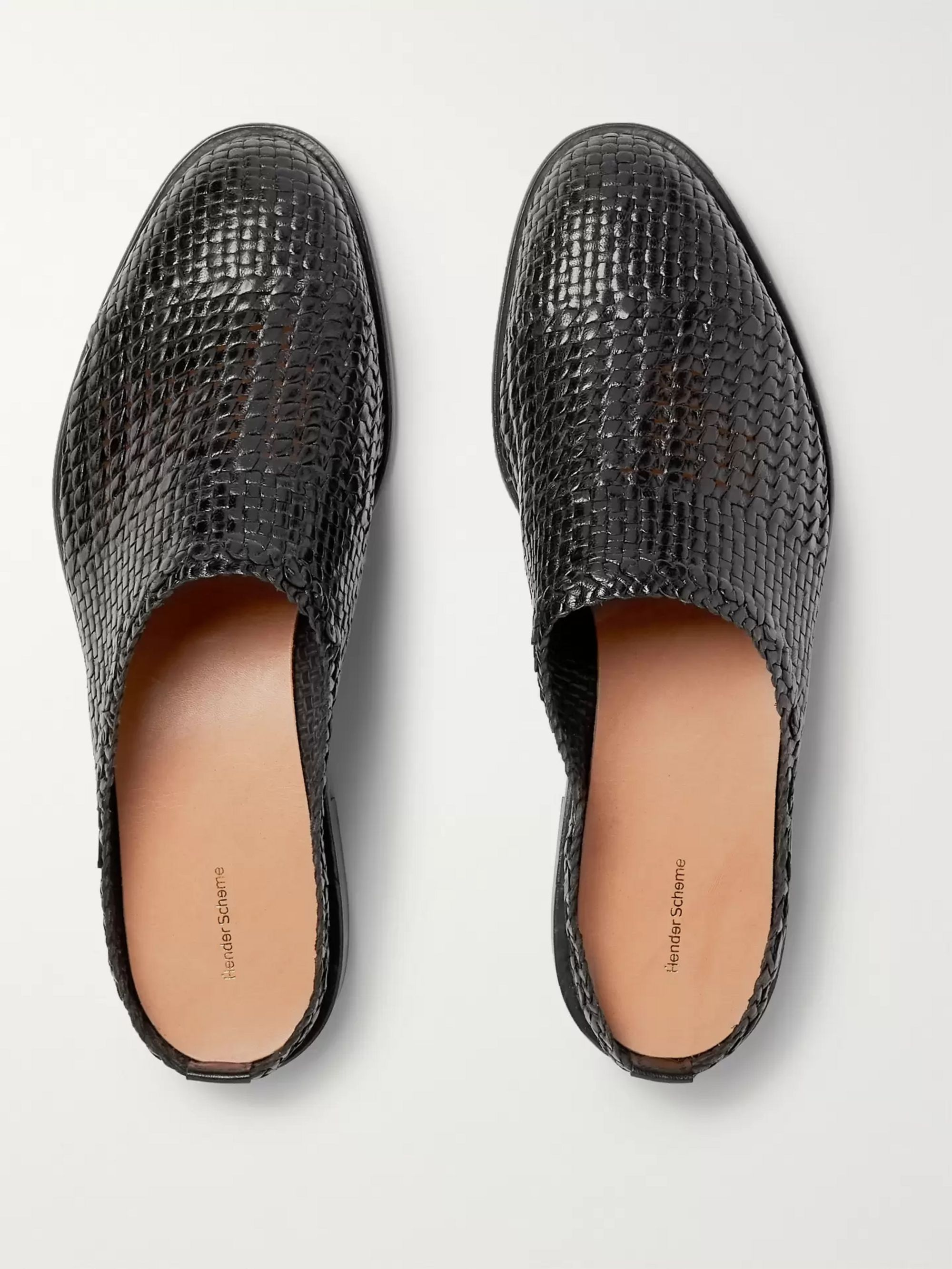 Hender Scheme Woven Leather Loafers