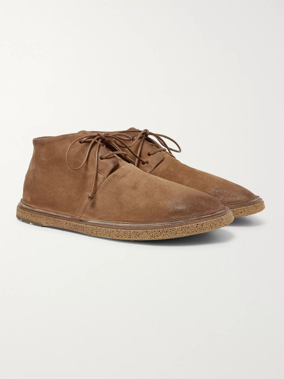 Marsell Stag Leather Chukka Boots