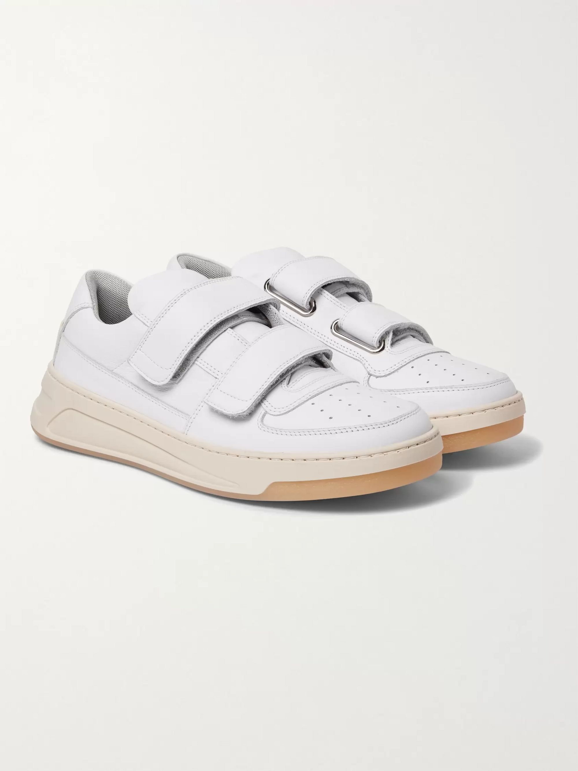 White Perey Leather Sneakers | Acne
