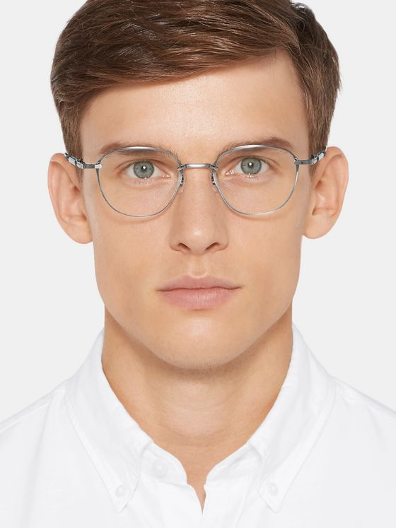 MR LEIGHT Griffith CL Square-Frame Silver-Tone Optical Glasses