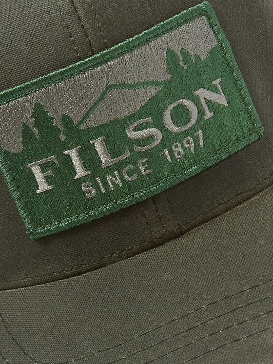Filson Logger Logo-Appliquéd Canvas and Mesh Trucker Cap