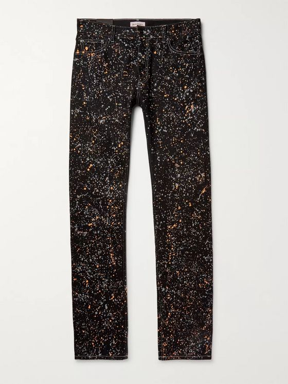 Palm Angels Paint-Splattered Denim Jeans