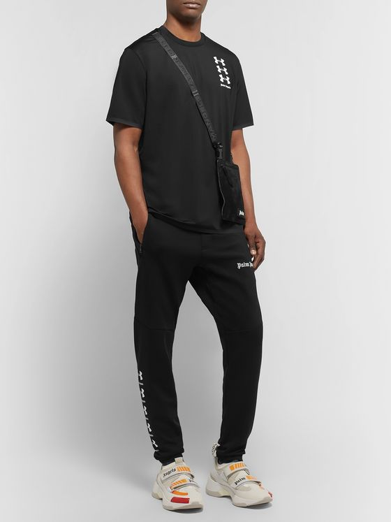 Palm Angels + Under Armour Perforated Logo-Print Celliant T-Shirt