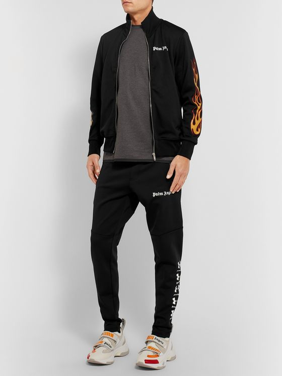 PALM ANGELS + Under Armour Logo-Print Tech-Jersey Sweatpants