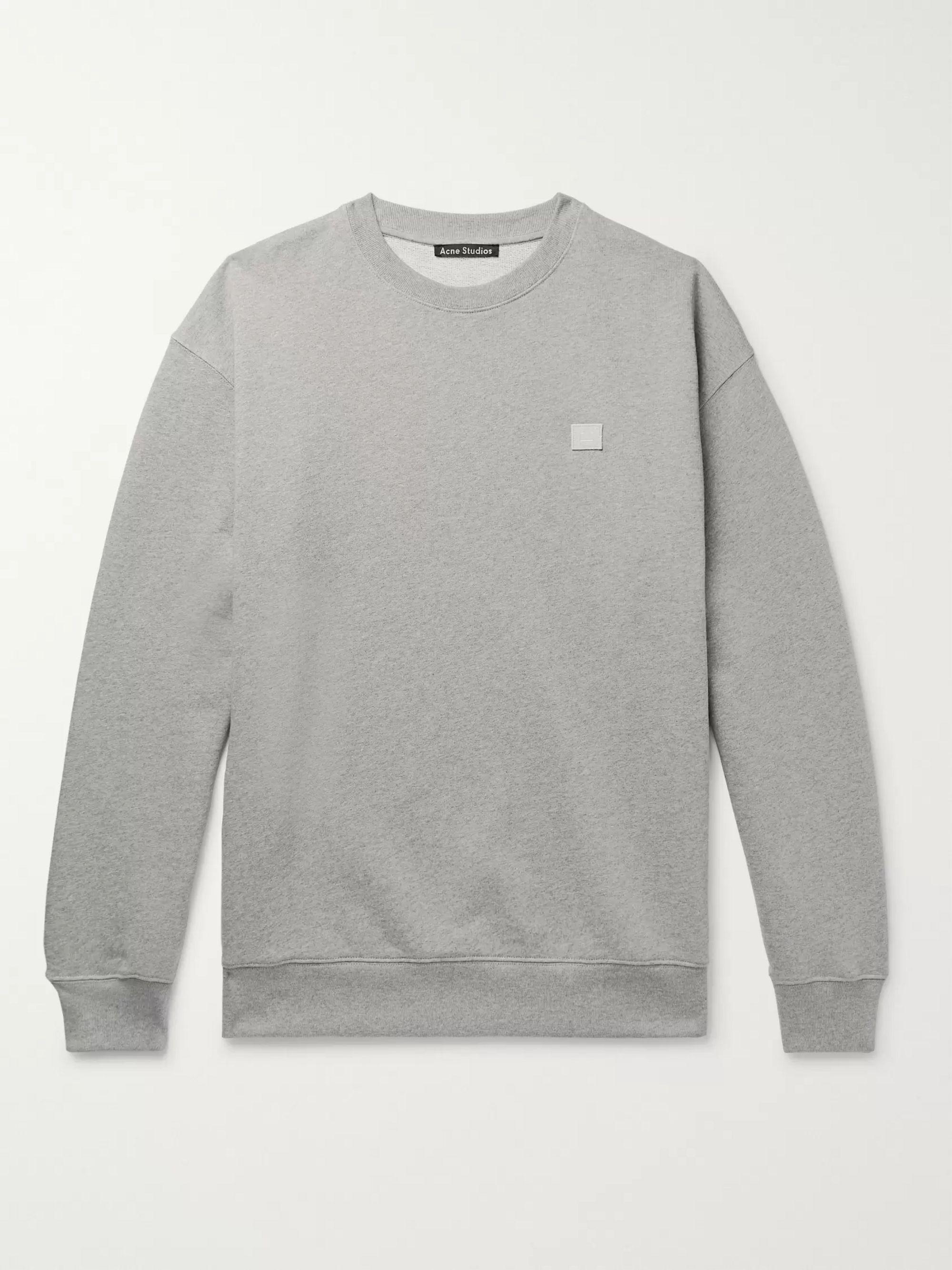 Forba Oversized Logo Appliquéd Mélange Loopback Cotton Jersey Sweatshirt
