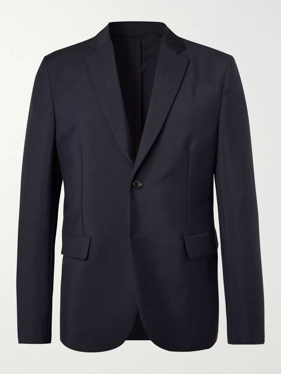 Acne Studios Navy Unstructured Wool and Mohair-Blend Blazer