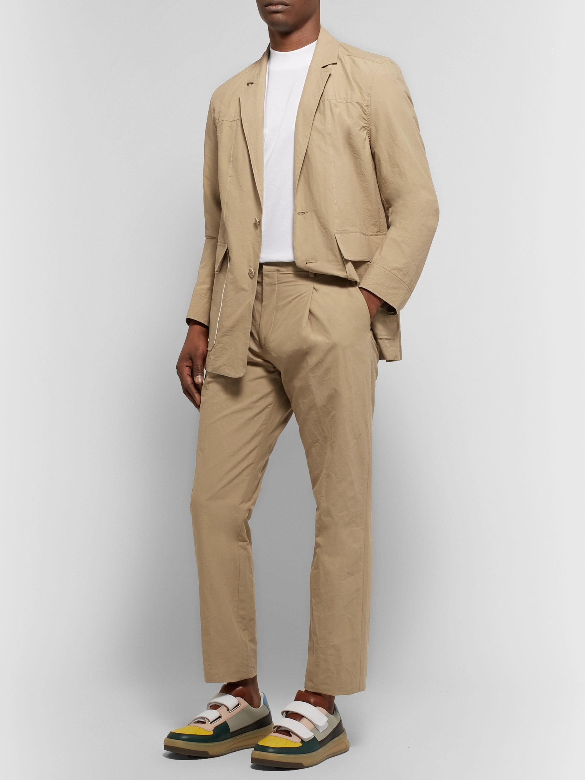 Acne Studios Sand Jarel Unstructured Cotton-Poplin Suit Jacket