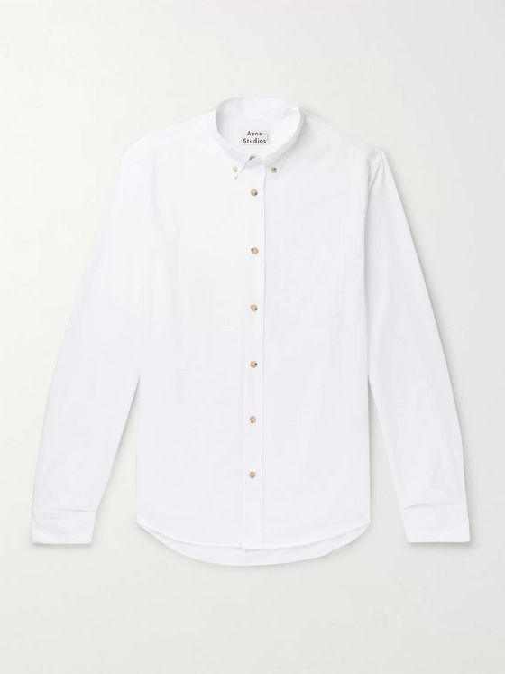 Acne Studios Isherwood Button-Down Collar Cotton-Poplin Shirt
