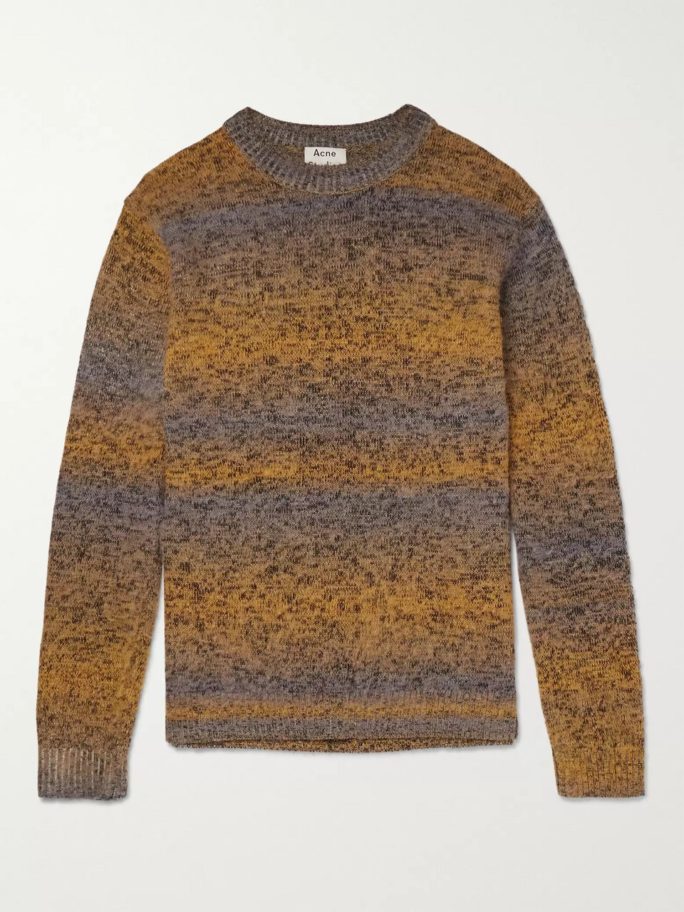 Acne Studios Kamal Space-Dyed Striped Mélange Knitted Sweater