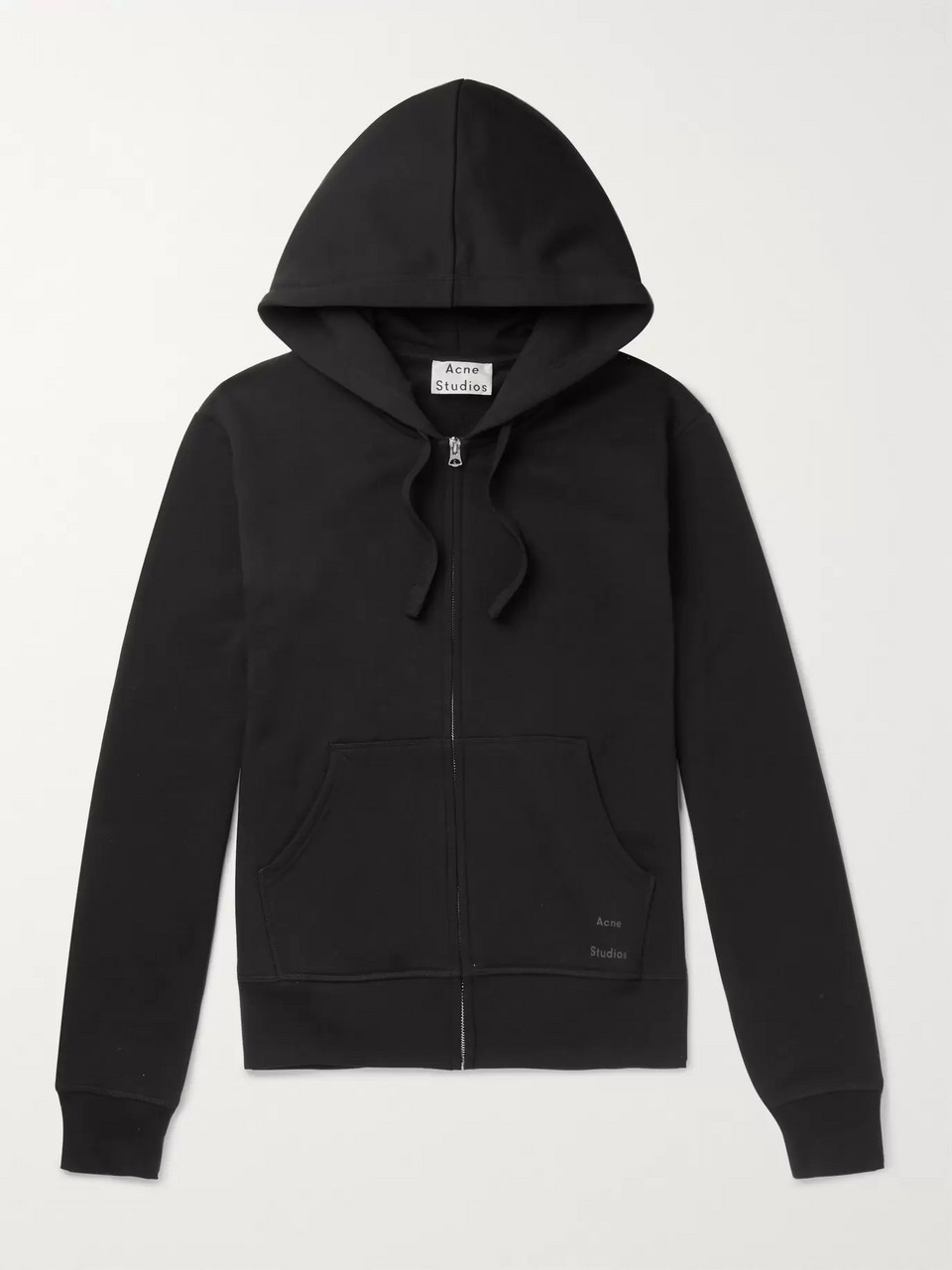 Acne Studios Frake Slim-Fit Loopback Cotton-Jersey Zip-Up Hoodie