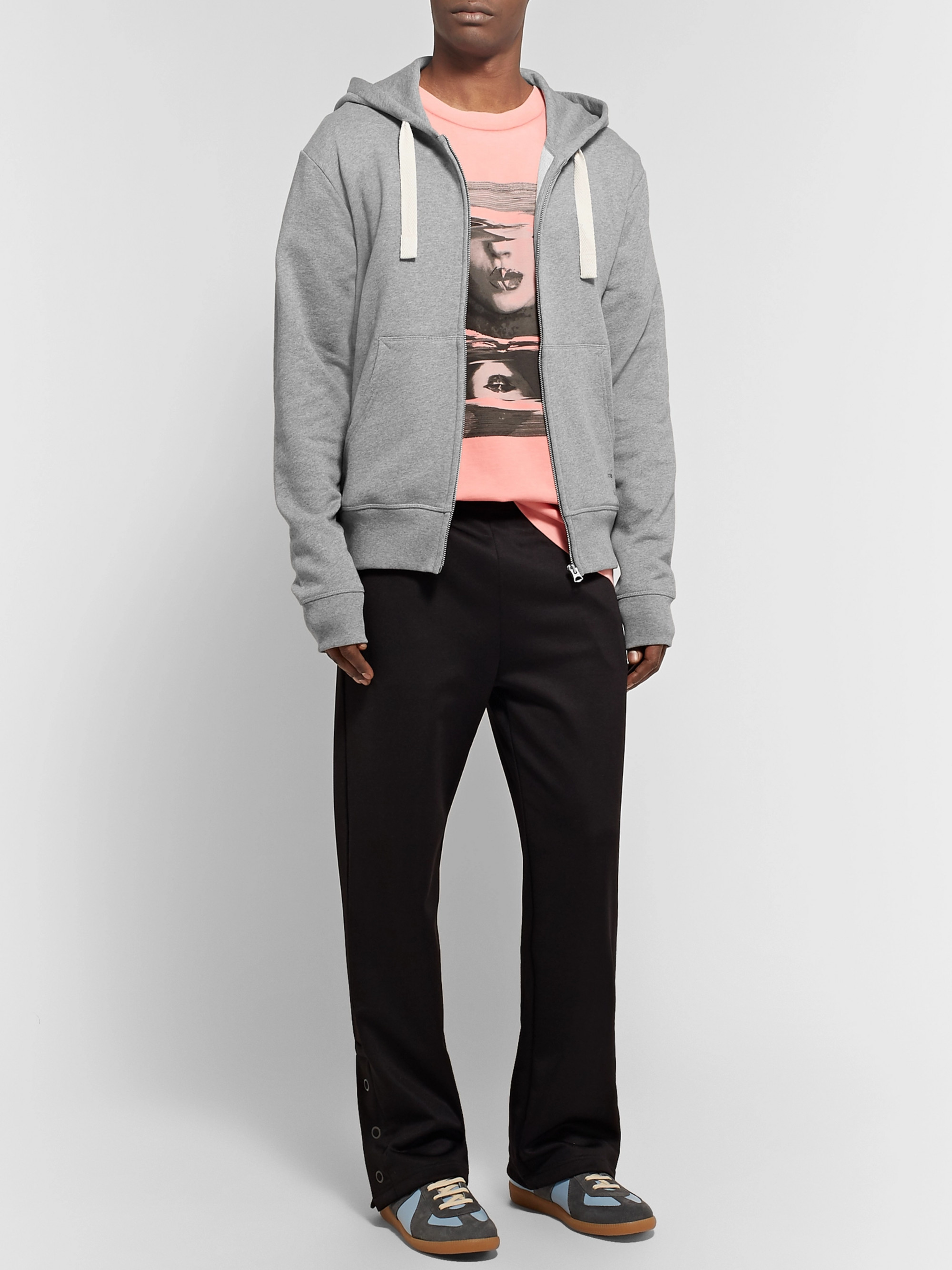 e9a9d4c787 Acne Studios Frake Slim-Fit Mélange Loopback Cotton-Jersey Zip-Up Hoodie