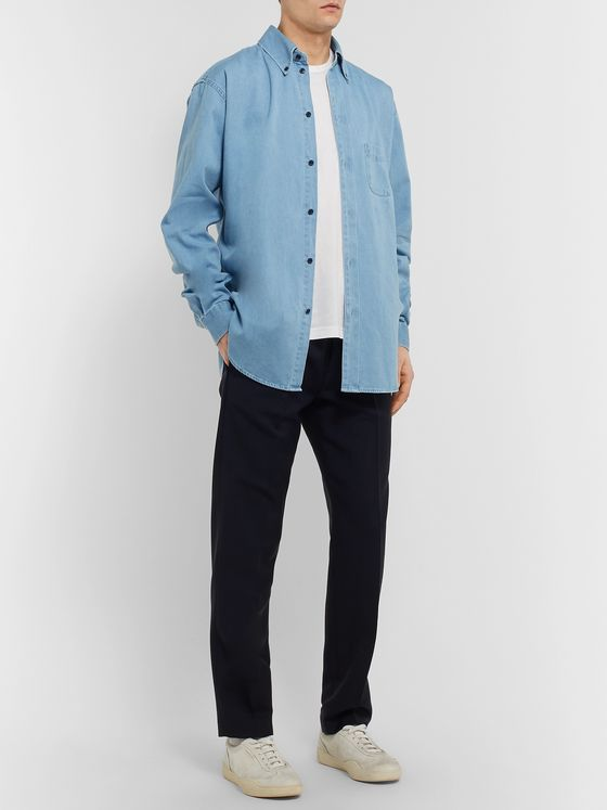 Acne Studios Seiji Oversized Button-Down Collar Denim Shirt