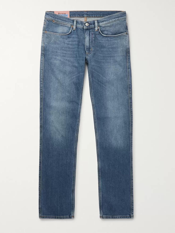 acne studios - max slim-fit denim jeans - men - blue