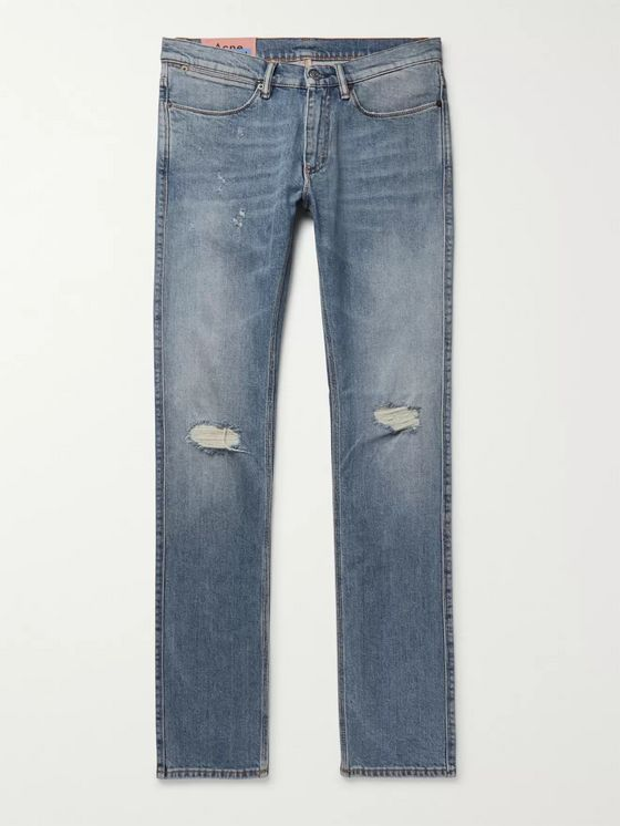 ACNE STUDIOS Max Slim-Fit Distressed Denim Jeans