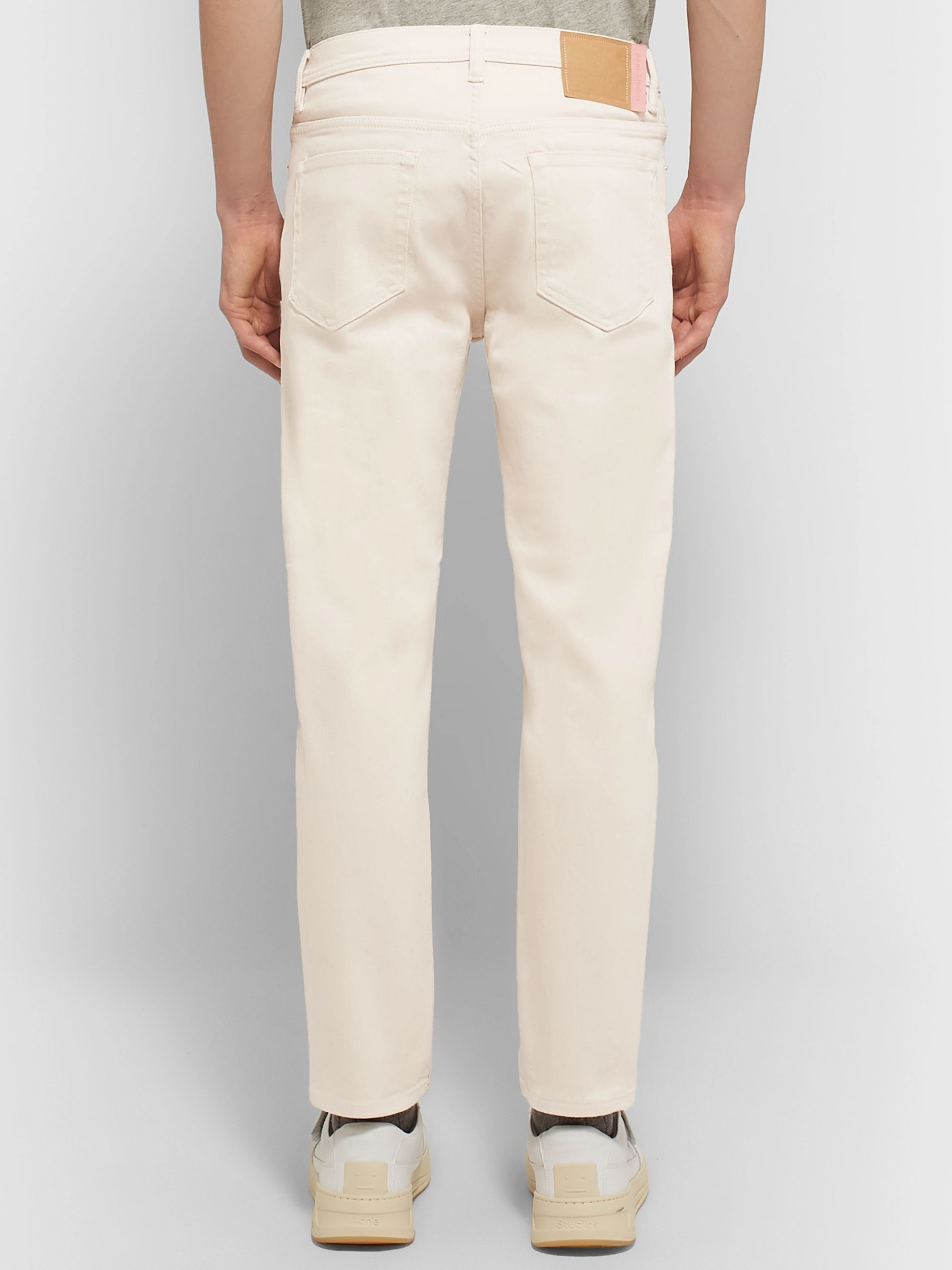 Acne Studios River Cropped Tapered Slim-Fit Denim Jeans