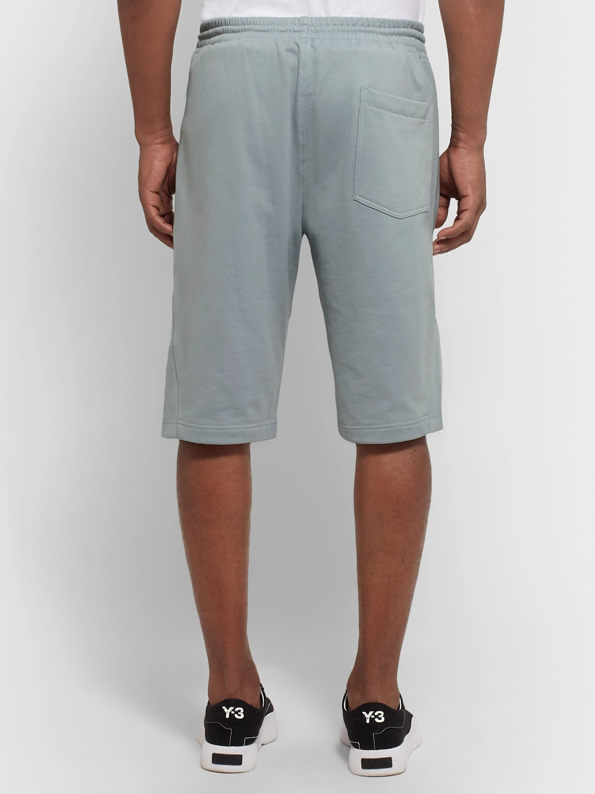 Y-3 Slim-Fit Loopback Cotton-Jersey Shorts